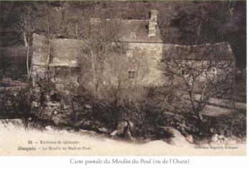 carte postale du moulin