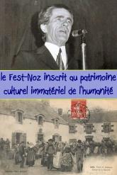 Noces et danses bretonnes à Lenhesk, carte postale Villard